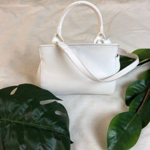 a new day Bags - • A New Day White Crossbody Buckle Bag •